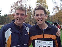 Die beiden Crosslauf-Debütanten