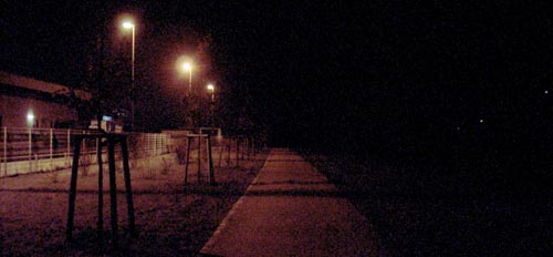 Park im Dunkeln