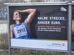 Plakat Berliner Halbmarathon 2008