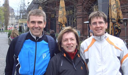Hartmut, Monika und ich nach dem Berliner Halbmarathon 2008