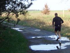Laufen über Pfützen