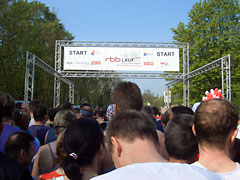 Am Start des 5. RBB-Laufs 2008 in Potsdam