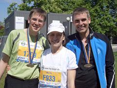 Monika, Hartmut und ich nach dem Lauf