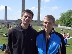 Klaus und Hartmut nach dem Lauf