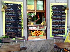Kleines Obstgeschäft an der Kantstraße