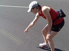 Spuren des Halbmarathons