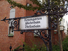 Schild zum Wohnviertel