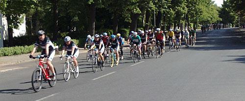 Radfahrer des Velothon