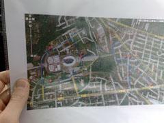 Karte der 1. Etappe