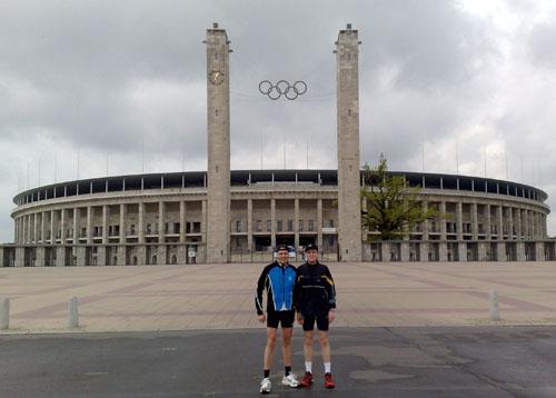 Am Ziel vor dem Olympiastadion