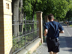 Laufen in der Franklinstraße