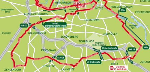Velothon-Strecke