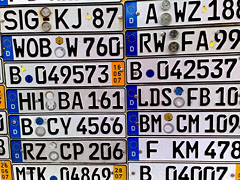 Werbung für Auto-Nummernschilder