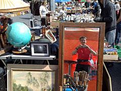 Läufer im Flohmarkt-Spiegel