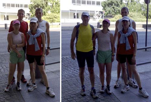 Gruppenbild der Teilnehmer der 6. Buchstabenlauf-Etappe