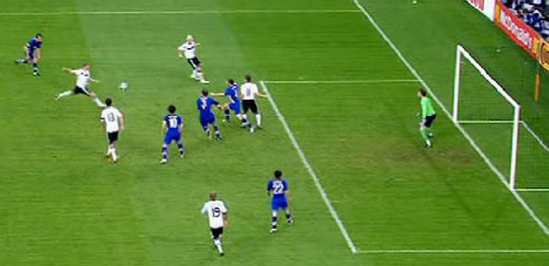 Fußball EM 2008, Podolski trifft gegen Kroatien