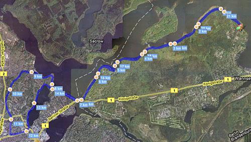 Lauf Wannsee-Potsdam am 12.07.2008