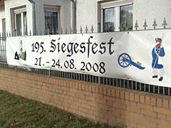 Banner für das Siegesfest