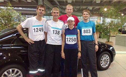 Gruppenbild vor dem Mercedes-Halbmarathon