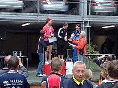 Siegerehrung der Damen beim Mercedes-Halbmarathon 2008