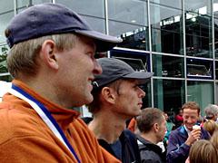 Bei der Halbmarathon-Siegerehrung