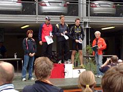 Siegerehrung der Herren beim Mercedes-Halbmarathon 2008