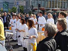 Musikgruppe am Potsdamer Platz
