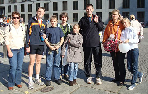 Gruppenbild nach dem Berlin-Marathon