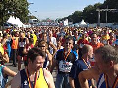 Im Ziel des Berlin-Marathon