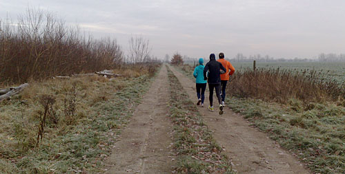 Läufer im Winter