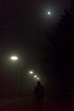 Läufer bei Volllmond