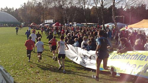 12-km-Läufer der Marathon-Staffel