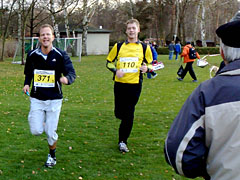 Läufer vor dem Ziel