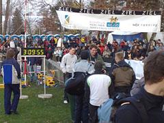 Ziel der Marathon-Staffel
