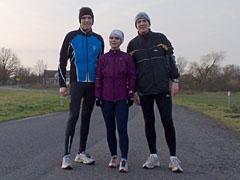 Läufer auf Straße bei Mahlow
