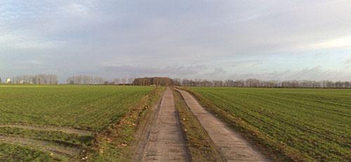 Lauf auf einem Feldweg vor Berlin