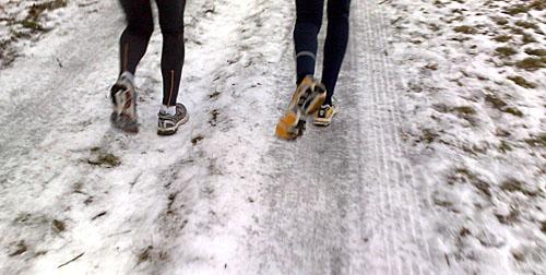 Laufen auf Eis