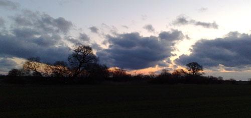 Himmel am frühen Morgen