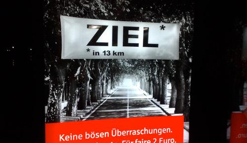Plakat mit Ziel-Banner