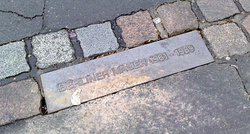 Berliner Mauer Plakette
