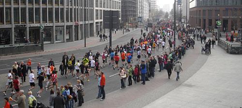 Halbmarathon-Läufer