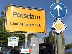 Schilder in Potsdam