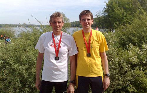 Läufer nach dem Potsdam-Drittelmarathon