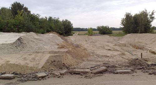 Baustelle an der L76 bei Kleinbeeren