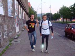 Läufer mit und ohne Zigarette
