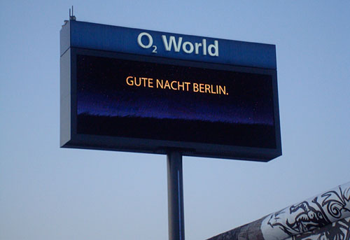 Display an der O2-World