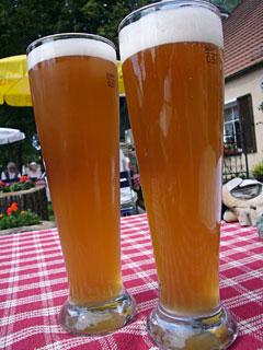 Bier im Ziel