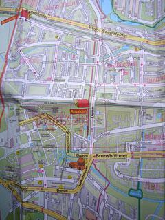Karte des Zielgebiets in Staaken