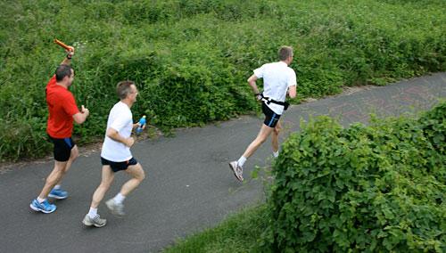Läufer von oben