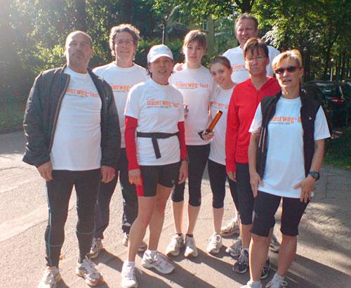 Treffen der Läufer-Teams 3 und 4